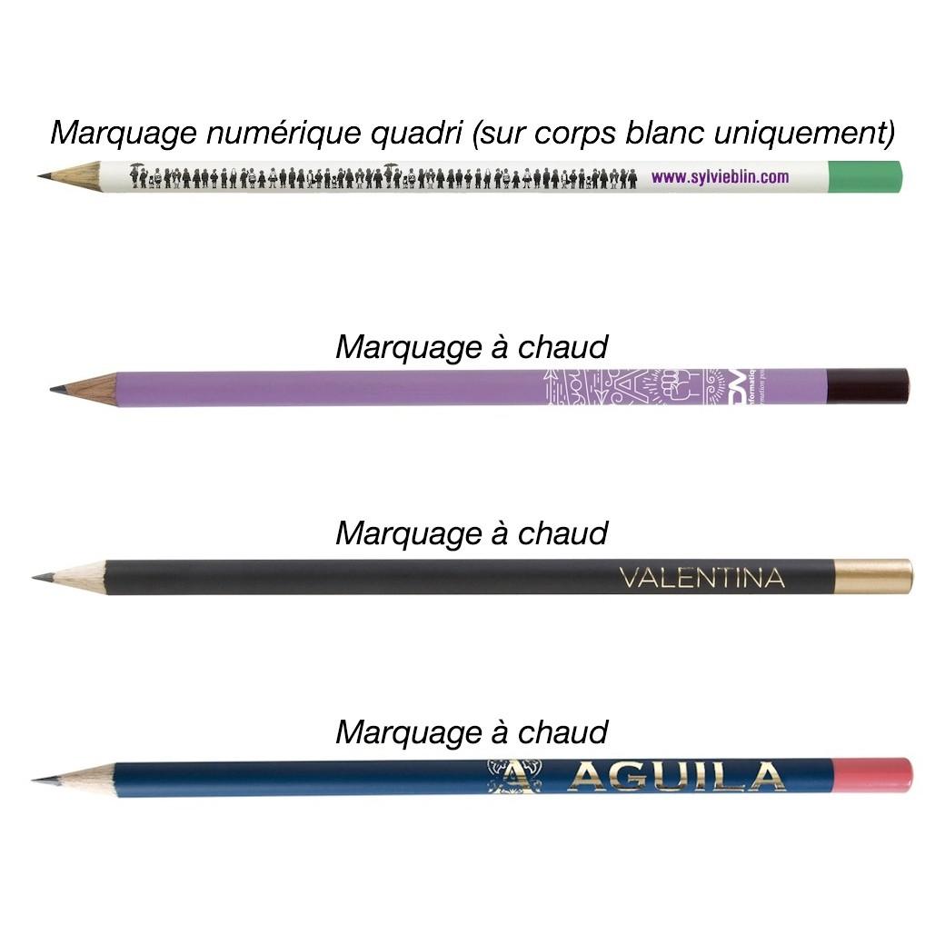 Crayon Bois Eco avec Vernis Couleur et Tête Trempée