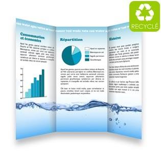 Dépliant papier recyclé