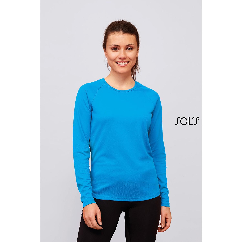 Tee-Shirt Sport Femme Manches Longues Sol's Sporty Lsl Women