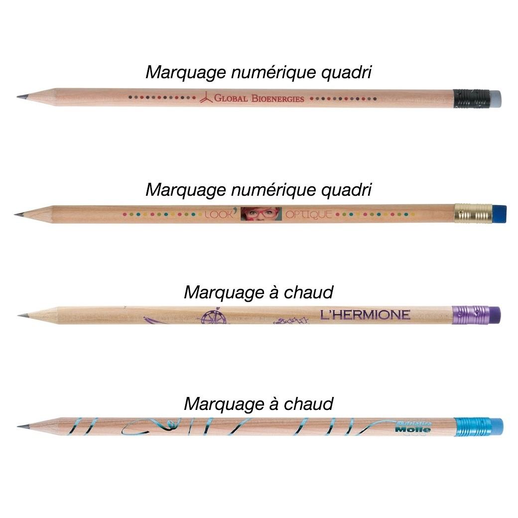 Crayon Bois Prestige Naturel avec Gomme