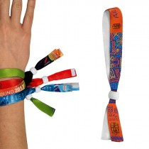 Bracelet inviolable en satin - sublimation 1 face