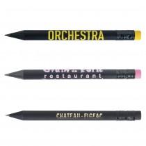 Mini Crayon Bois Prestige Black avec Gomme