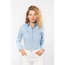 Chemise Popeline Manches Longues Femme