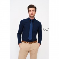 Chemise Homme Popeline Manches Longues Sol's Baltimore Fit