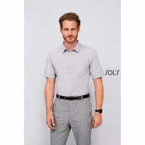 Chemise Homme Popeline Manches Courtes Sol's Bristol Fit