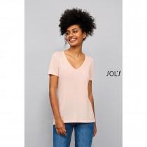 """Tee-Shirt Femme Fluide Col """"V"""" Sol's Motion"""