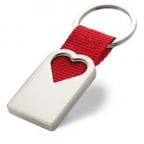 Porte-clés cœur en métal