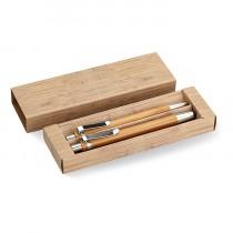 Coffret stylo et crayon écolo en bambou