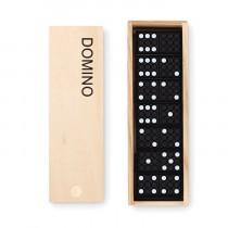 Jeu de domino dans une boite