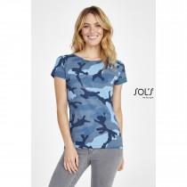 Tee-Shirt Femme Col Rond SOL'S CAMO WOMEN