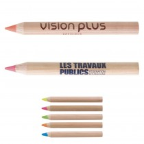 Mini Crayon Bois Prestige Naturel Mine Fluo
