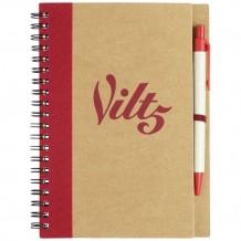 Bloc-notes 60 pages A5 + stylo 100% recyclé