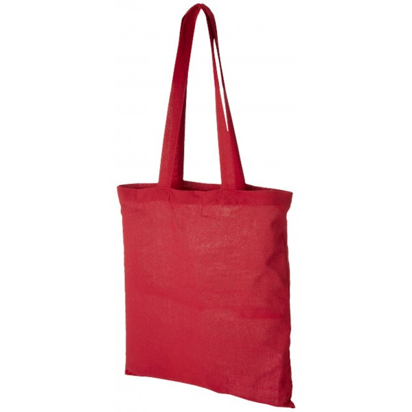 Sac shopping coton Carolina, Couleur : Rouge