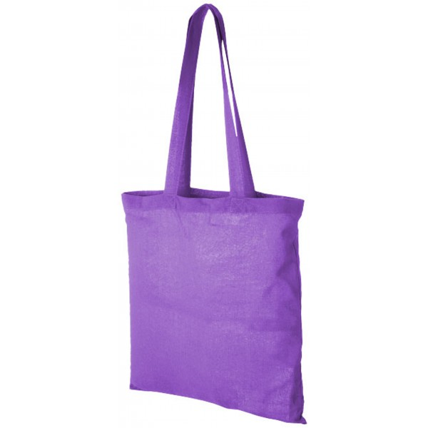 Sac shopping coton Carolina, Couleur : Violet