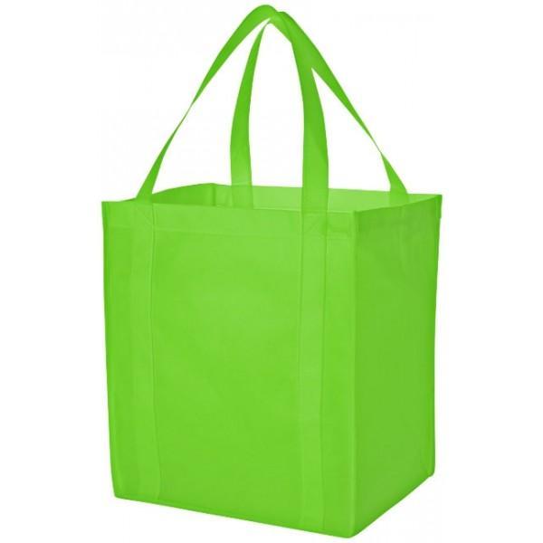 Sac shopping non tissé Liberty, Couleur : Vert Citron