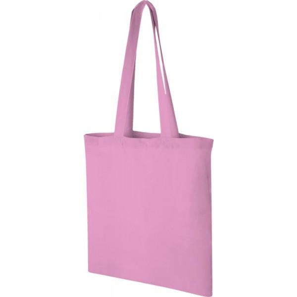 Sac Shopping coton Madras, Couleur : Rose