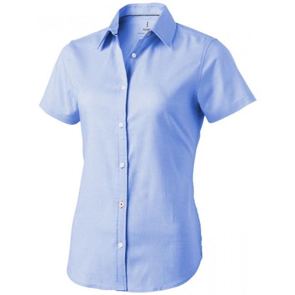 Chemise d'entreprise à marquer  manches courtes Femme Manitoba, Couleur : Bleu Clair, Taille : XS