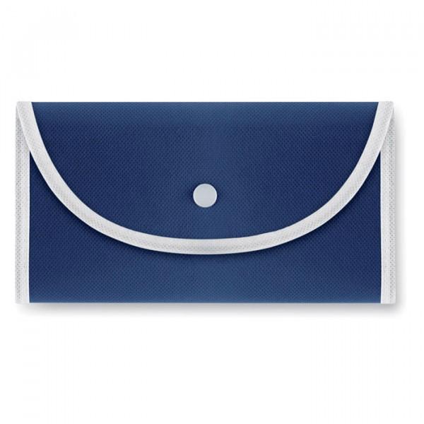 Sac shopping pliable, Couleur : Bleu