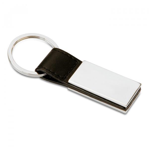 Porte-clés PU et métal , Couleur : Noir