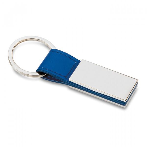 Porte-clés PU et métal , Couleur : Bleu