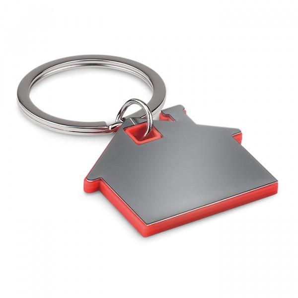 Porte-clés en forme de maison, Couleur : Rouge