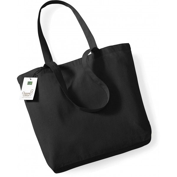 Organic Cotton Shopper, Couleur : Black (Noir), Taille :