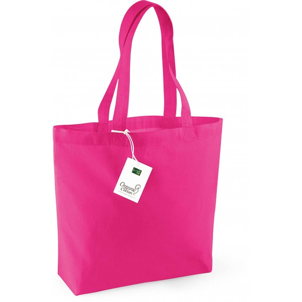 Organic Cotton Shopper, Couleur : Fuchsia