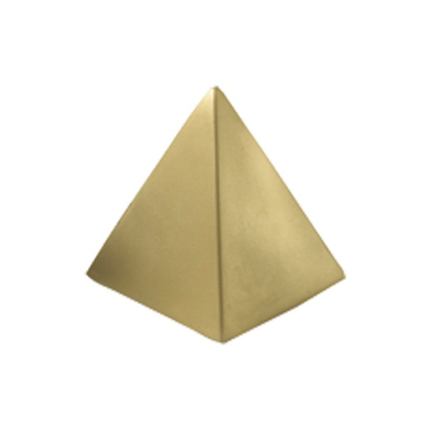 Anti-stress Pyramide, Couleur : Or, Taille :