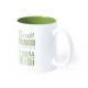 Mug avec votre logo + Personnalisation Prénom Nom, Couleur : Vert
